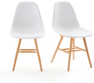 La Redoute Interieurs Jimi Set of 2 Chairs with Plastic Shell