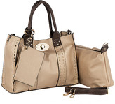 Mkf Collection By Mia K. MKF Collection by Mia K. Women's Satchels Gold - Coffee & Rose Gold Elissa Tote Set