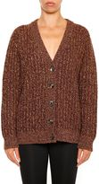Prada Wool And Cashmere Cardigan With Lurex