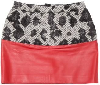 Balenciaga Red Leather Skirt for Women