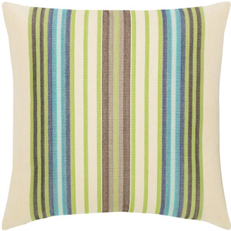 Elaine Smith Multi-Stripe Sunbrella Pillow