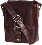 House of Leather Mens Leather Messenger Bag Casual Satchel Organiser Vintage HOL056