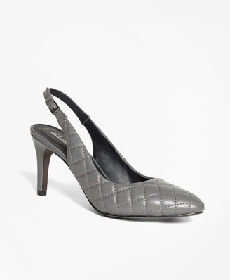 Brooks Brothers Quilted Leather Slingbacks