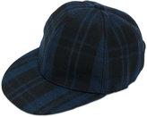 Valentino check cap - men - Leather/Acrylic/Polyamide/Wool - 57