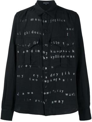 Ann Demeulemeester Poetry Print Shirt