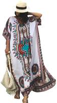 Maxwell Women's Ethnic Print Kaftan Long Maxi Dress Cover Up Tunic Beach Dress