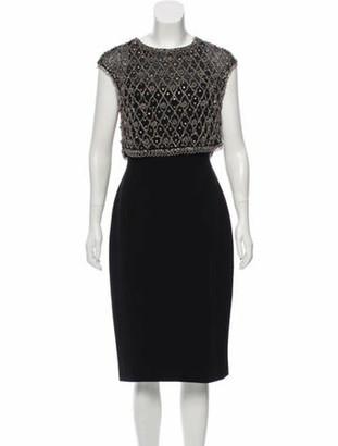Pamella Pamella Roland Embellished Midi Dress w/ Tags Black