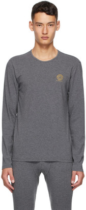 Versace Underwear Grey Medusa Long Sleeve T-Shirt