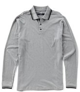 Stone Rose Speckle Long-Sleeve Polo Shirt
