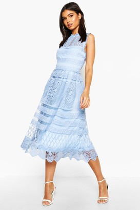 boohoo Boutique Lace Skater Bridesmaid Dress
