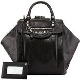 Balenciaga Giant Nickel Zip Traveler Backpack, Black
