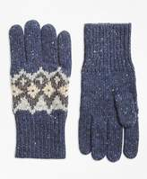 Brooks Brothers Fair Isle Wool-Blend Gloves