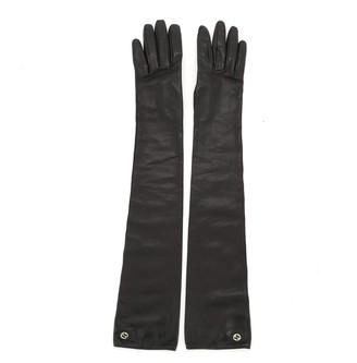 Gucci Interlocking G Gloves Leather Long 7.5