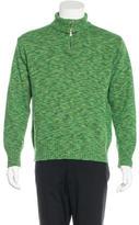 Kenzo Wool Zip Mock Sweater