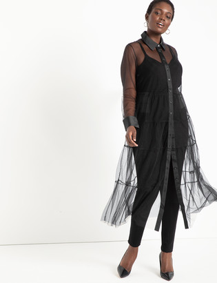 ELOQUII Sheer Maxi Dress