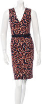 Tory Burch Printed Belted Dress
