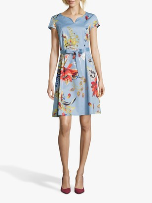Betty Barclay Floral Shift Dress, Blue/Red