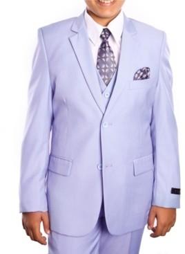 Tazio Toddler Boys Solid 2 Button Vested Boys Suit 5 Piece