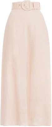 Zimmermann Super Eight Linen Skirt