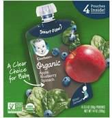 Gerber Organic Fruit & Veggies, Apples, Blueberries & Spinach - 3.5oz (4 Pack)
