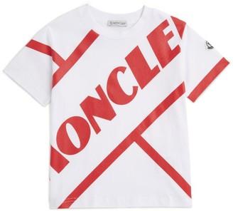 Moncler Kids Diagonal Logo T-Shirt (8-10 Years)