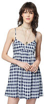 Aeropostale Womens Prince & Fox Gingham Babydoll Dress Blue