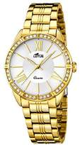 Lotus Women's Quartz Watch with Silver Dial Analogue Display and Stainless Steel Gold Plated Bracelet 18131/1