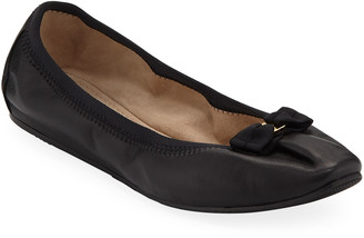 Salvatore Ferragamo My Joy Leather Slip-On Ballet Flats
