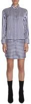Burberry Women's Stripe Silk & Cotton Shirtdress