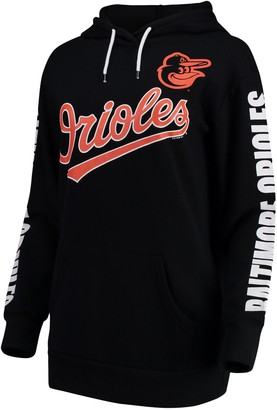 G Iii Women's G-III 4Her by Carl Banks Black Baltimore Orioles Extra Innings Pullover Hoodie