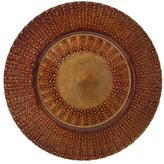 Ten Strawberry Street 10 Strawberry Street Set of 6 Aztec Glass Charger Plates - Black/Silver