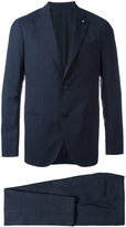 Lardini light check two-piece suit - men - Cupro/Viscose/Wool - 48