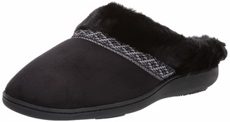 Isotoner Women's Basil Slippers Memory Foam House Shoe Indoor/Outdoor Sole