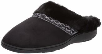 Isotoner Women's Microsuede Memory Foam Basil Hoodback Slipper with Faux Fur