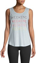 Andrew Marc Weekend Graphic Tank Top