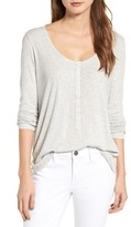 Hinge Women's Ribbed Henley Top