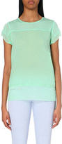 French Connection Polly raw-edged jersey top