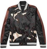 Valentino Printed Satin Bomber Jacket