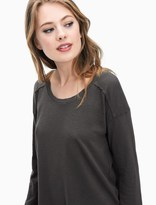 Splendid Cotton Slub Sweatshirt Tee