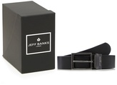 Jeff Banks Black Leather Belt In A Gift Box