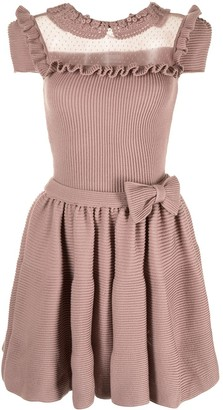 Valentino Pre-Owned Ruffled Bow-Detail Dress