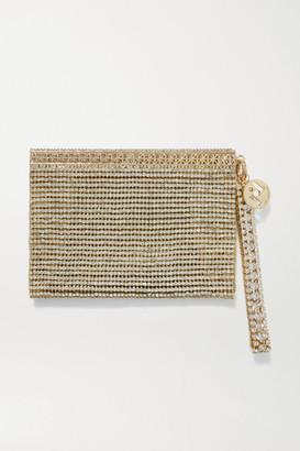 Rosantica Melissa Crystal-embellished Gold-tone Clutch - one size