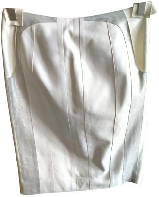 Loewe White Leather Skirt for Women