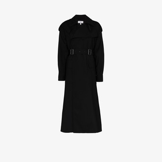 Hyke Double Buckle Belted Trench Coat