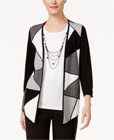 Alfred Dunner Petite City Life Layered-Look Necklace Top