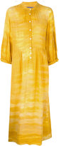 Raquel Allegra button up peasant dress - women - Cotton - 0