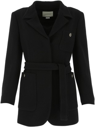 Gucci Sable Belted Jacket