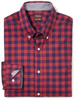 J.Mclaughlin West End Trim Fit Shirt in Mini Check