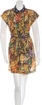 Dries Van Noten Printed Button-Up Dress