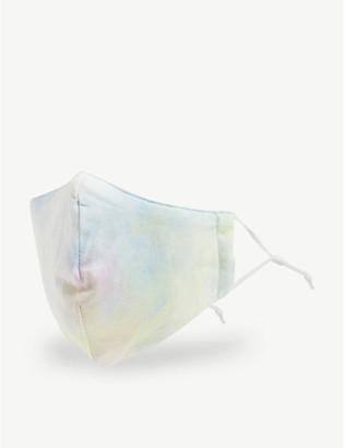 Lele Sadoughi Tie-dye cotton headband and face covering set